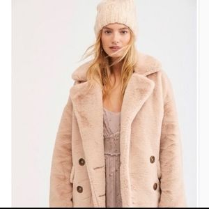 Free People Kate Faux Fur Teddy Coat